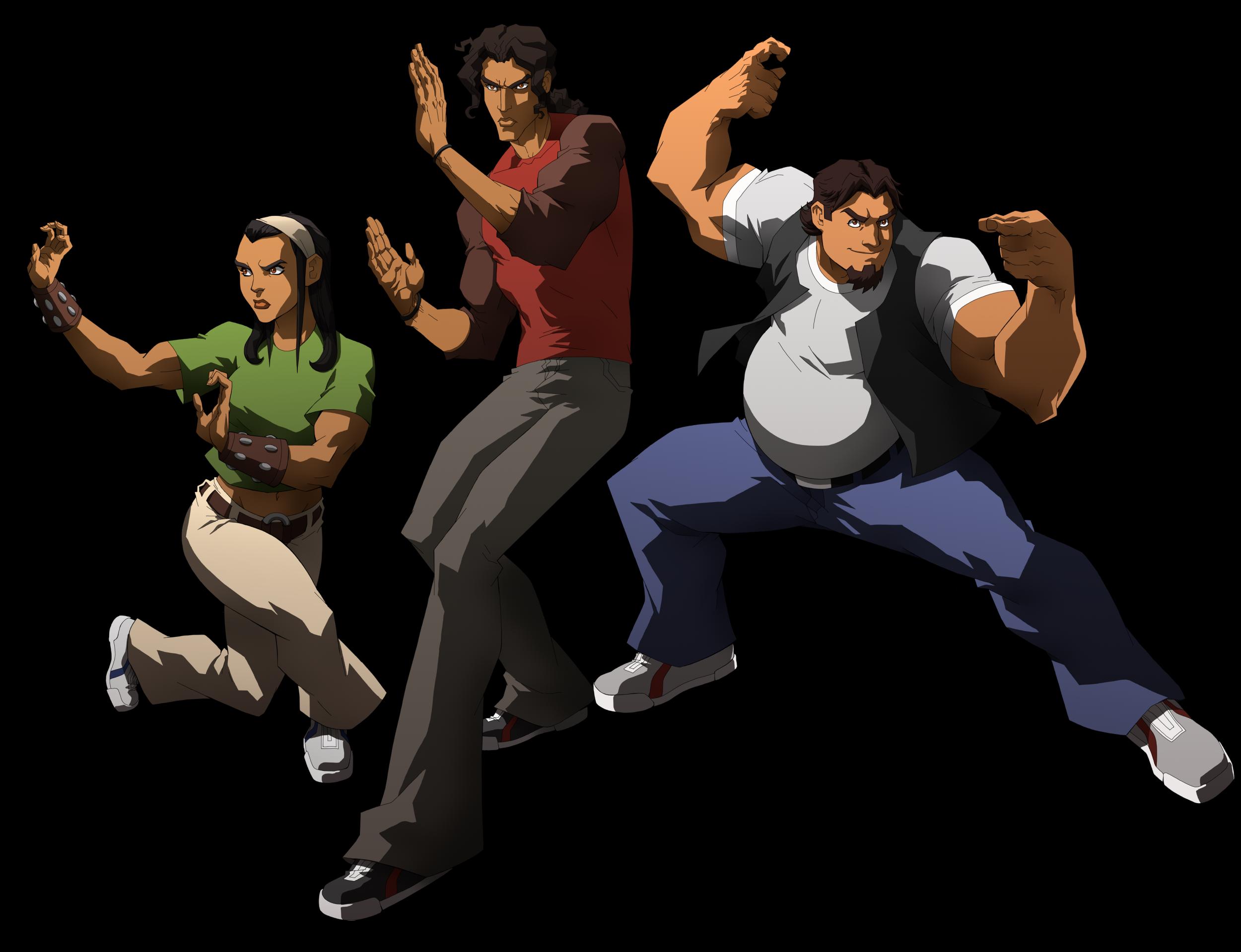 3 personajes de Seis Manos de Netflix